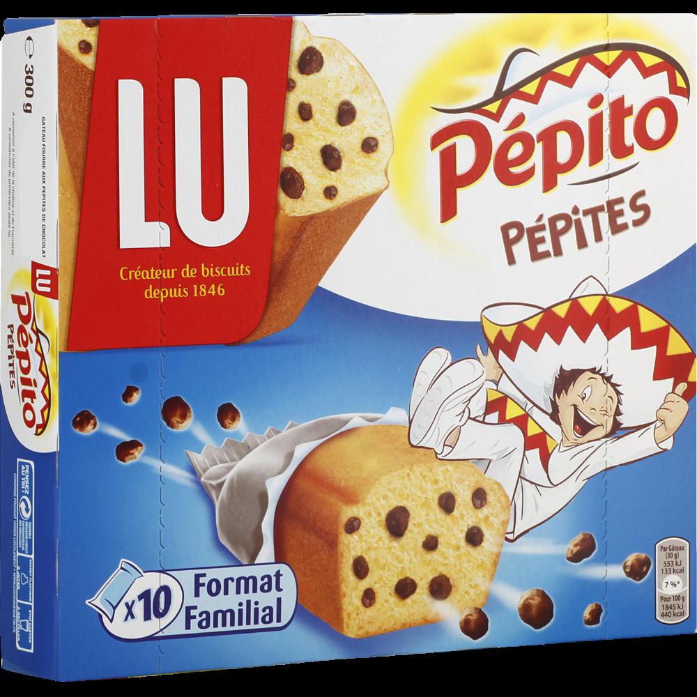 Pépito choco pépites de chocolat, Lu (x 10, 300 g)