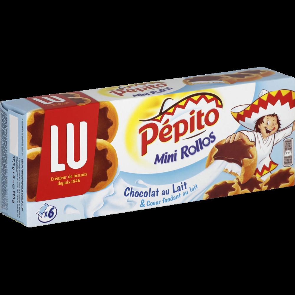Mini Rollos Pépito au lait (x 6, 225 g)