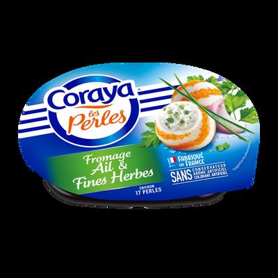 Perles surimi et fromage ail et fines herbes, Coraya (136 g)
