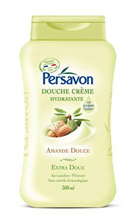 Douche crème hydratante à l'amande douce, Persavon (300 ml)