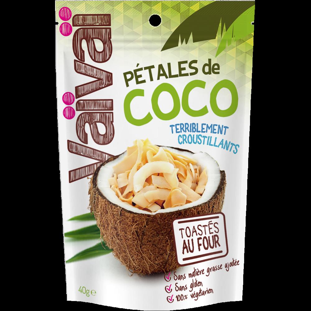 Pétales de coco terriblement croustillants, Vaivai (40 g)