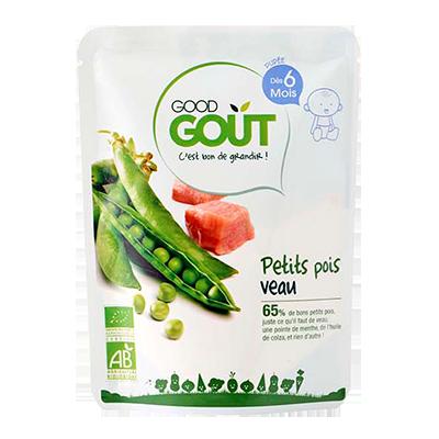 Petit pois et veau BIO - dès 6 mois, Good Goût (190 g)