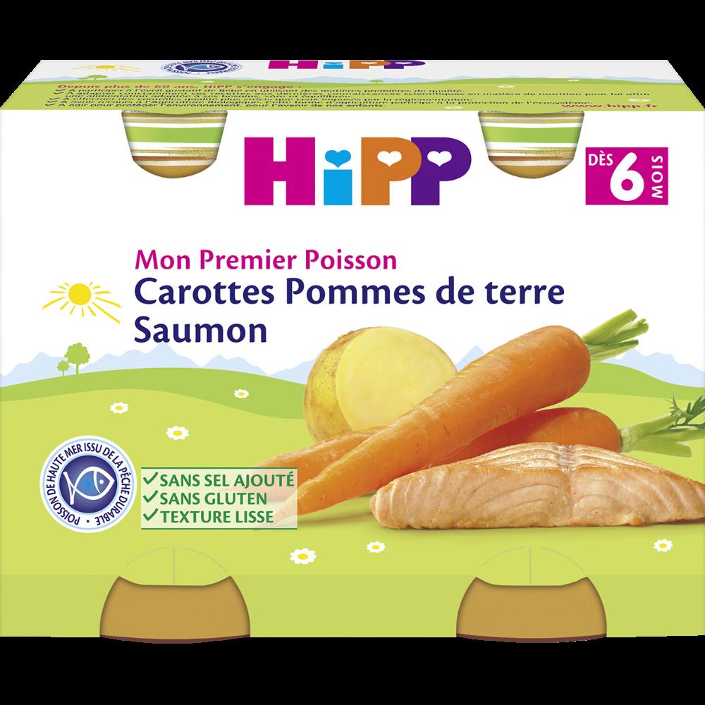 Mon premier poisson carotte, pomme de terre, saumon BIO - dès 6 mois, Hipp  (2 x 190 g)