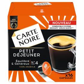 Café capsule Petit Dej' Carte Noire / compatible dolce gusto (x 16)