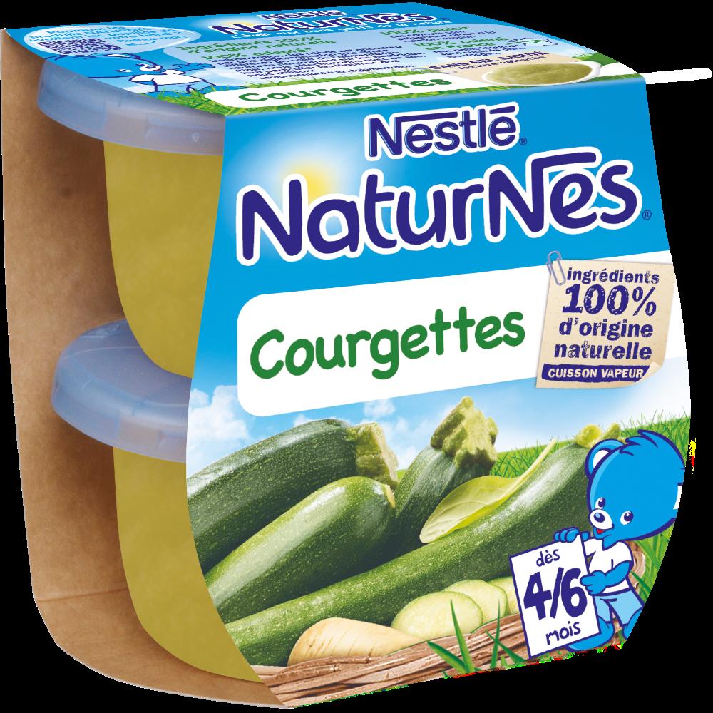 Courgettes - dès 4/6 mois, Naturnes Nestlé (2 x 130 g)