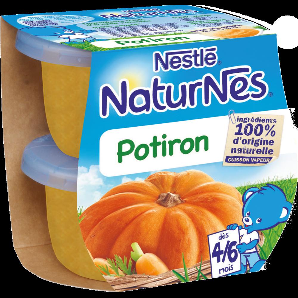 Potiron - dès 4/6 mois, Naturnes Nestlé (2 x 130 g)