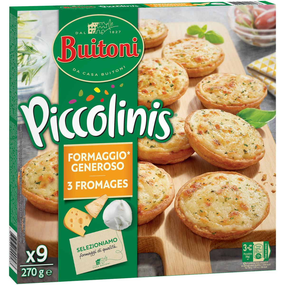 Piccolinis aux 3 fromages, Buitoni (270 g)