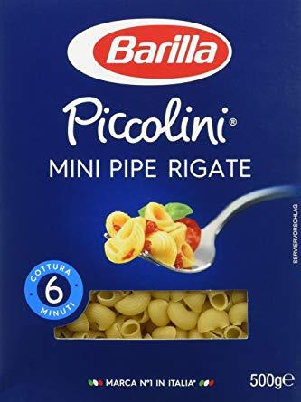 Mini pipe rigate Piccolini, Barilla (500 g)