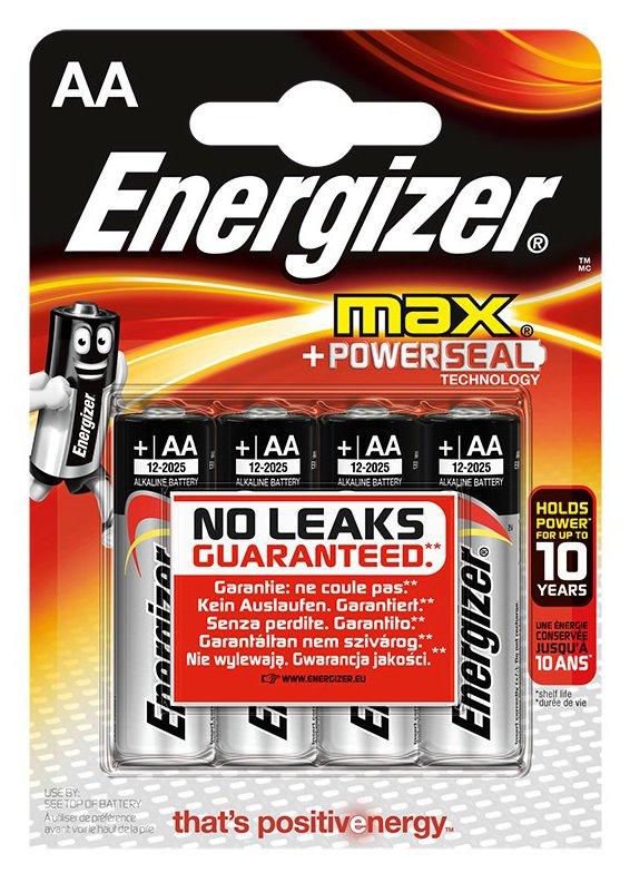 Piles LR6 AA Power, Energizer max (x 4)