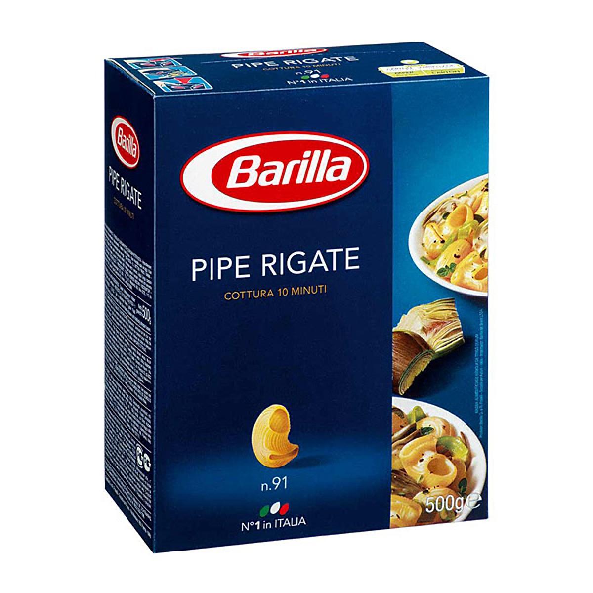 Pipe rigate, Barilla (500 g)
