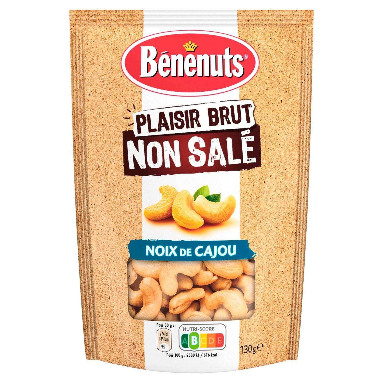 Plaisir brut noix de cajou sans sel, Bénenuts (130 g)