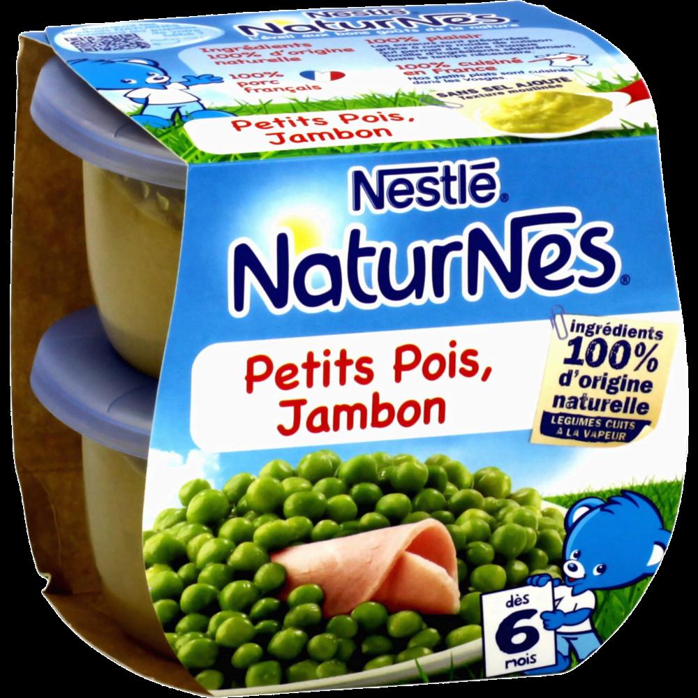 Petits pois, jambon - dès 6 mois, Naturnes Nestlé (2 x 200 g)