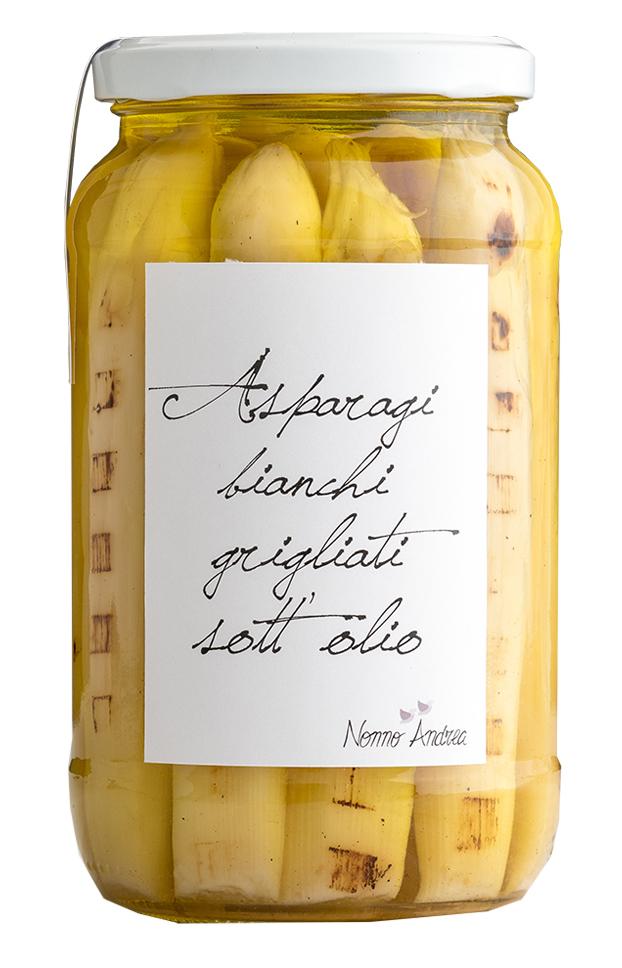 Pointes d'asperges blanches à l'huile BIO, Nonno Andrea (390 g)