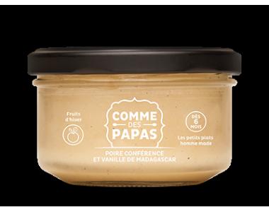 Poire conférence et vanille de Madagascar - 6 mois, Comme des papas (130 g)