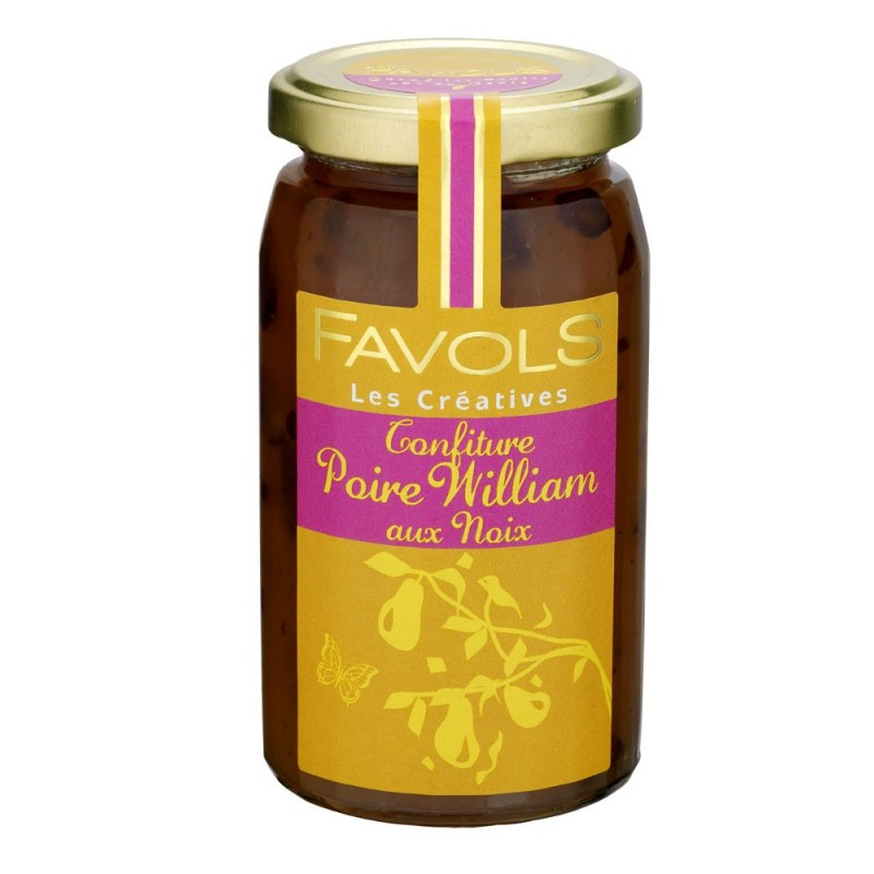 Confiture de poire william aux noix, Favols (270 g)
