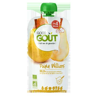 Poire Williams BIO - dès 4 mois, Good Goût (120 g)