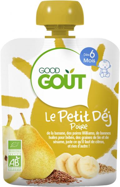 Le Petit Déj' Poire, Good Goût (70 g) - dès 6 mois