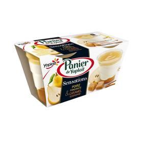 Yaourt Sensation Poire Caramel, Panier de Yoplait  (2 x 125 g)