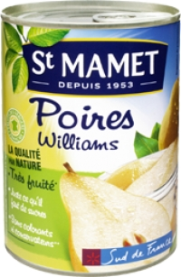 Poires Williams au sirop St Mamet (455 g)
