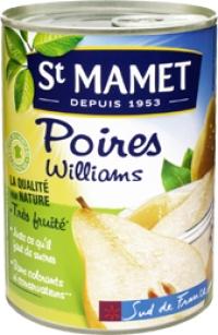 Poires Williams au sirop St Mamet (465 g)