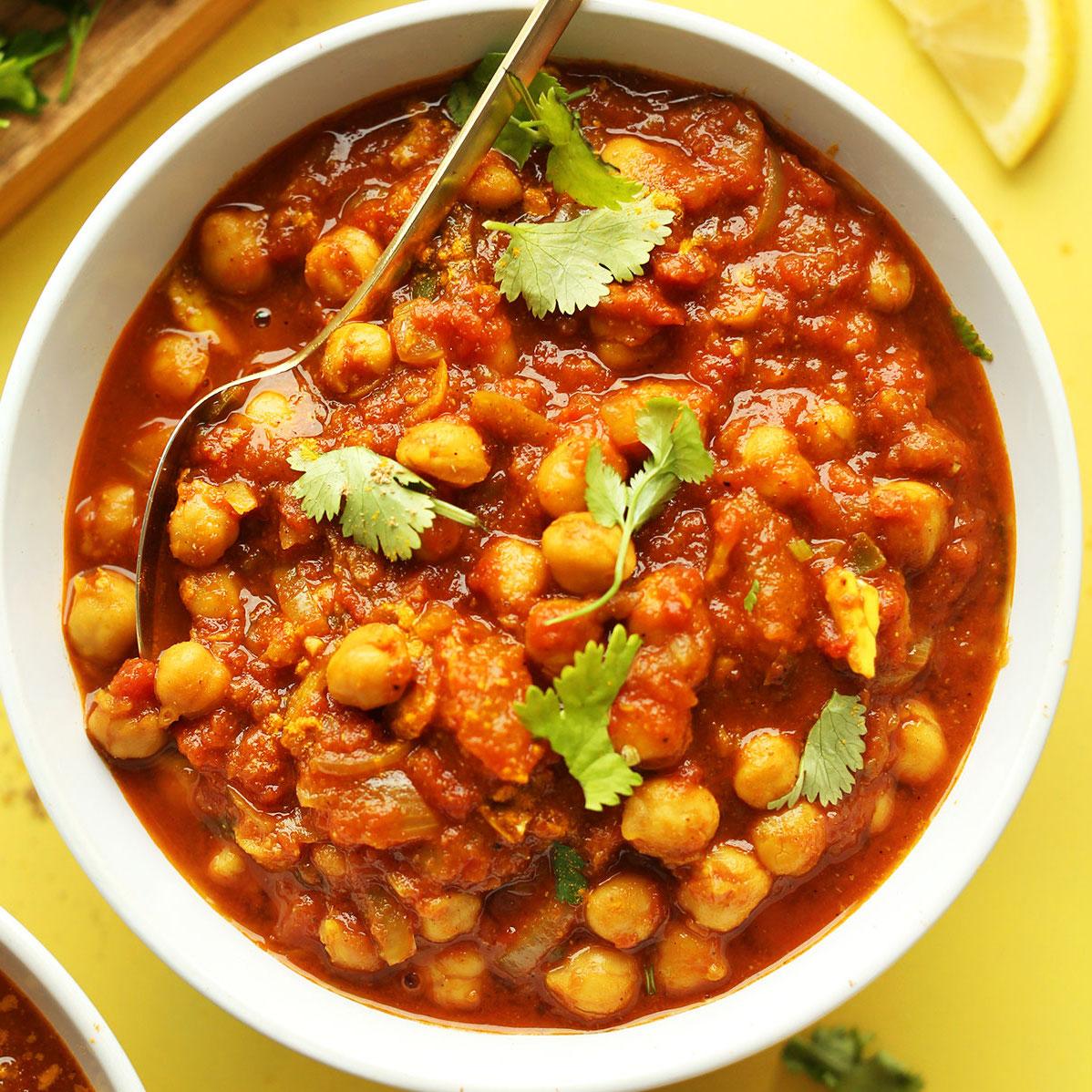 Pois chiche cuisinés à l'indienne (300 g)