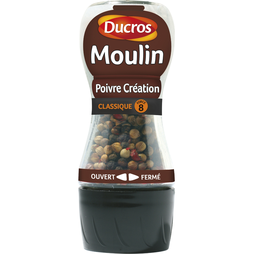 Moulin mélange poivre création n°8, Ducros (34 g)