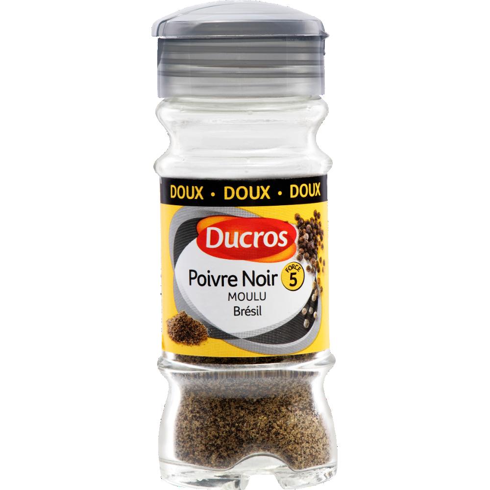 Poivre noir moulu doux n°5, Ducros (32 g)