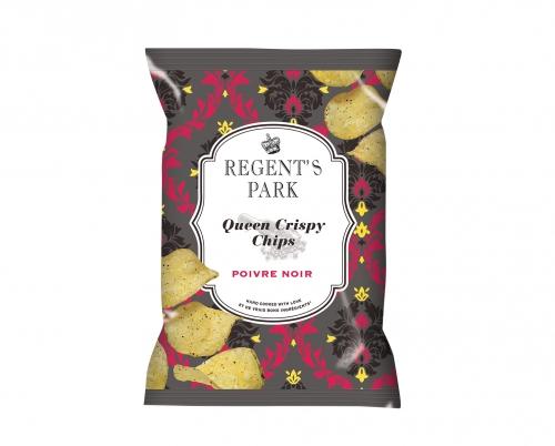 Chips au poivre noir Queen Crispy, Regent's Park (40 g)