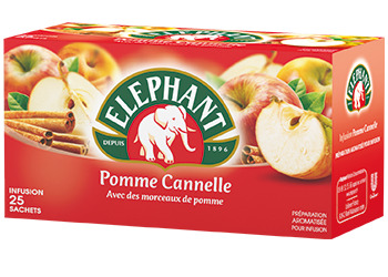 Infusion pomme cannelle, Elephant (25 sachets)