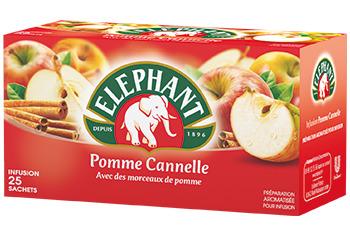 Infusion pomme cannelle, Elephant (25 sachets)
