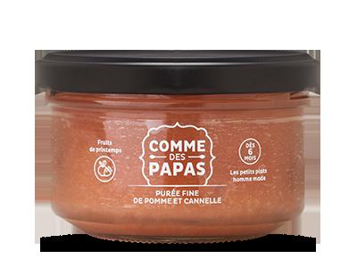 Compote fine de pomme et cannelle BIO - 6 mois, Comme des Papas (130 g)