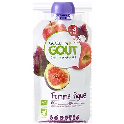 Pomme Figue BIO - dès 4 mois, Good Goût (120 g)