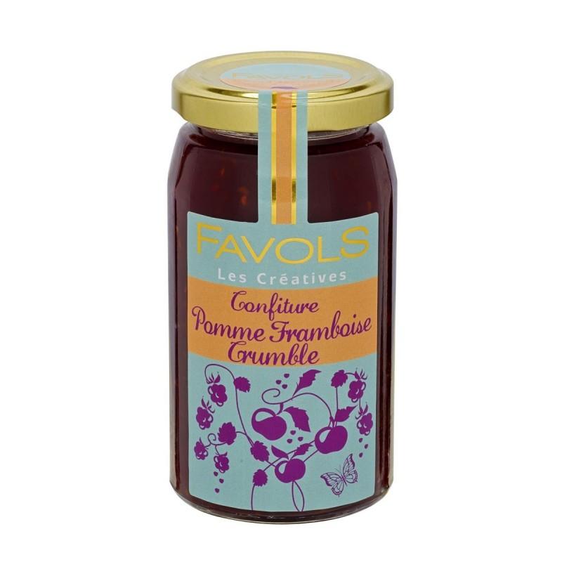 Confiture pomme framboise crumble Favols (260 g)
