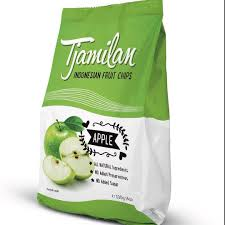 Chips de pomme, Indonesian fruit chips, Tjamilan (100 g)