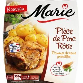 Pièce de porc rôtie PDT grenaille, Marie Frais (350 g)