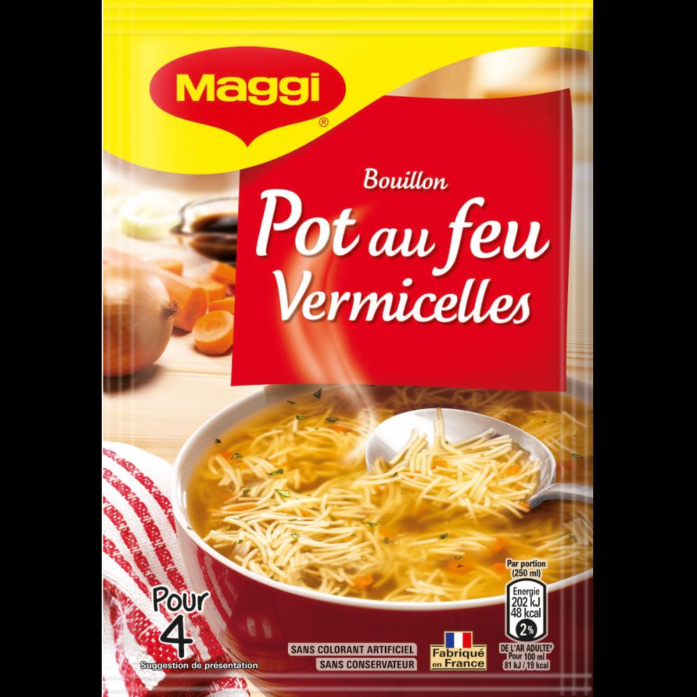Bouillon pot au feu et vermicelles à l'ancienne déshydraté, Maggi (57 g)