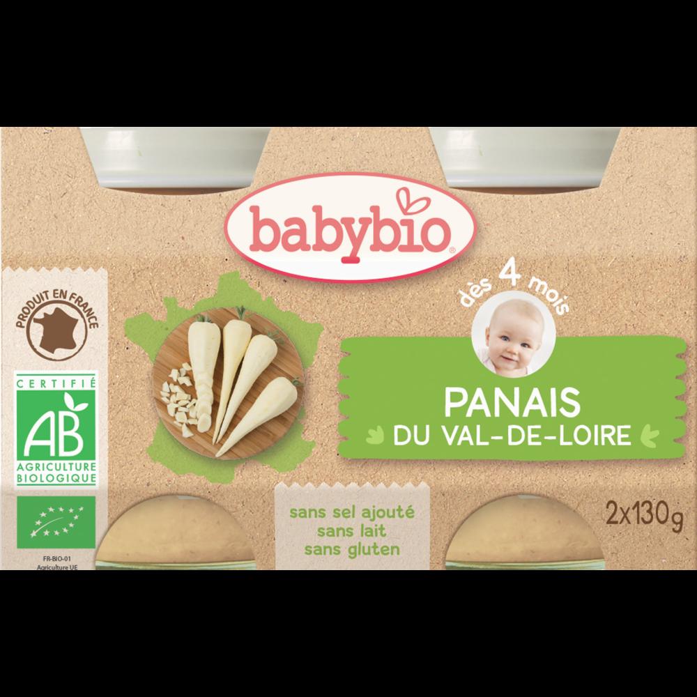 Petit pot panais du Val de Loire BIO - dès 4 mois, Babybio (2 x 130 g)