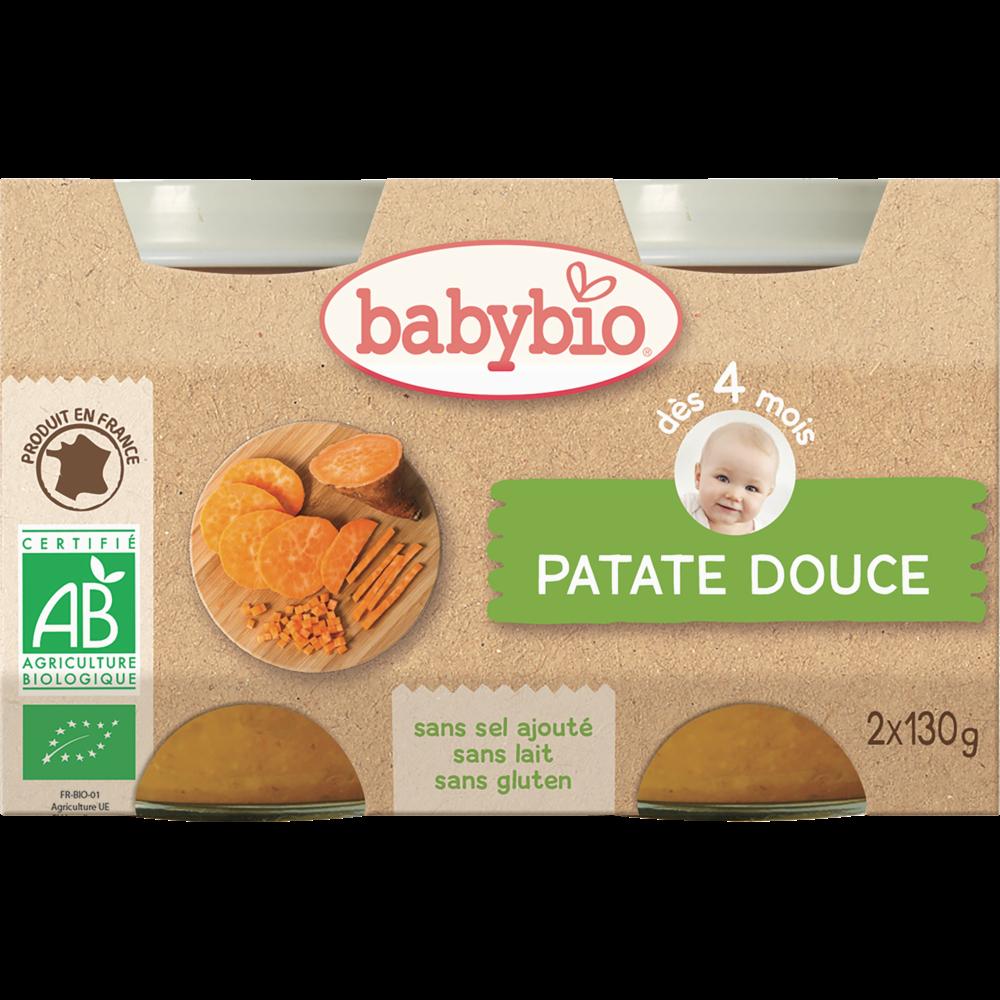 Petit pot patate douce BIO - dès 4 mois, Babybio (2 x 130 g)