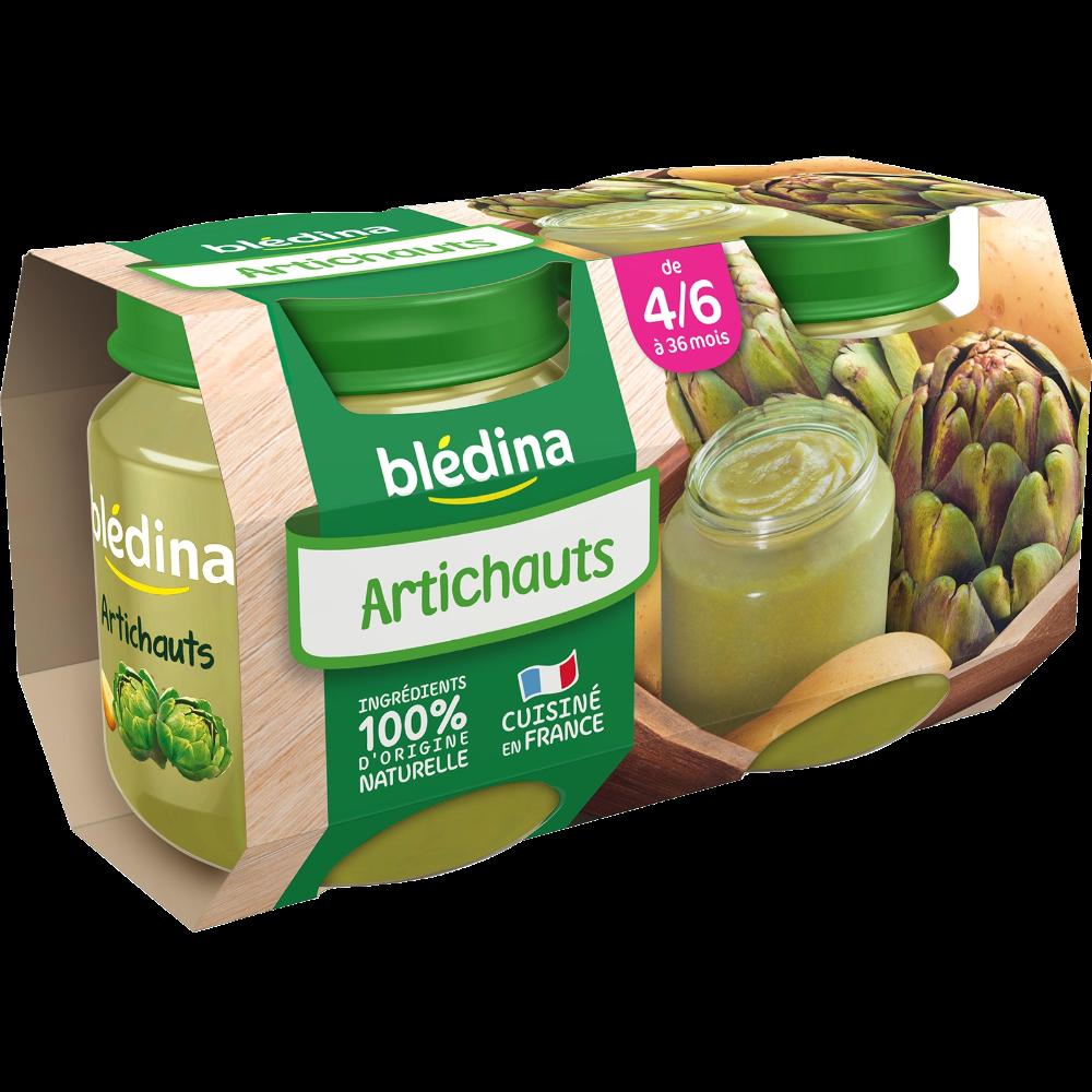 Petit pot artichauts - dès 4/6 mois, Blédina (2 x 130 g)