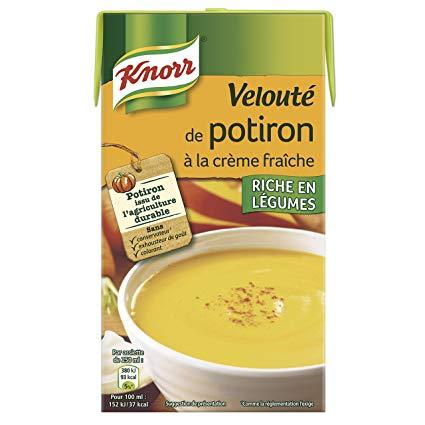 Velouté potiron à la creme fraiche, Knorr (1 L)