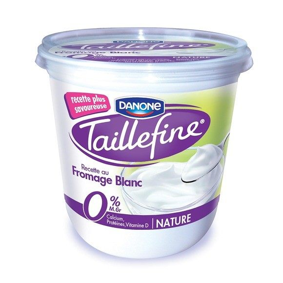 Fromage Blanc nature 0% Taillefine, Danone (850 g)