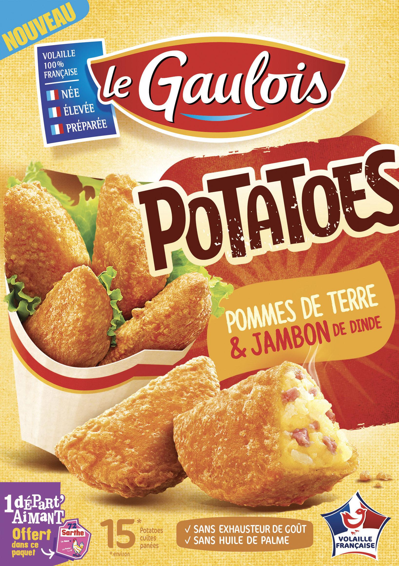 Potatoes pané de jambon de dinde, Le Gaulois (200 g)