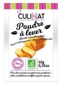 Poudre à lever sans phosphate BIO, Culinat (x 8, 80 g)