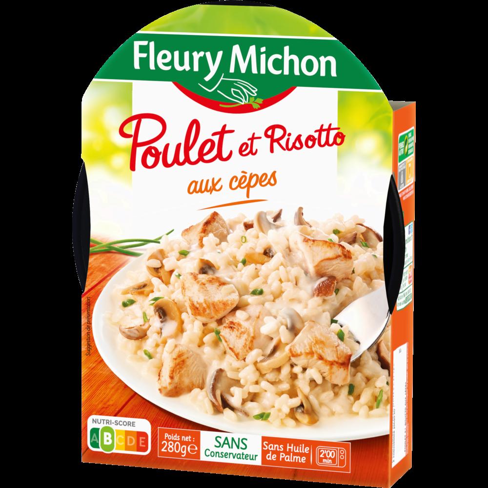 Poulet et risotto cèpes et champignons, Fleury Michon (280 g)