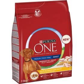 Croquette pour chien Adulte au poulet, Purina One (2.5 KG)