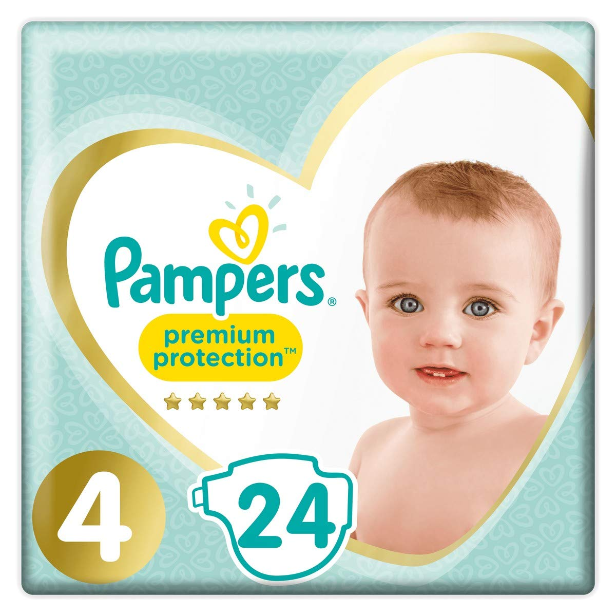 Couches Premium Protection Taille 4 / 9-14 kg, Pampers (x 24)