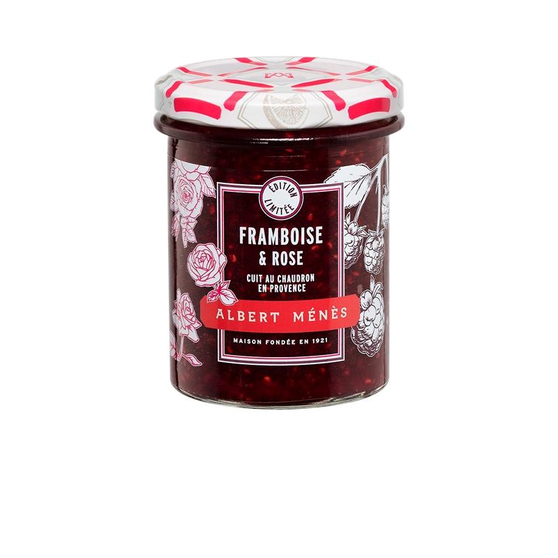 Préparation aux Fruits de Framboise et Rose, Albert Ménès (280 g)