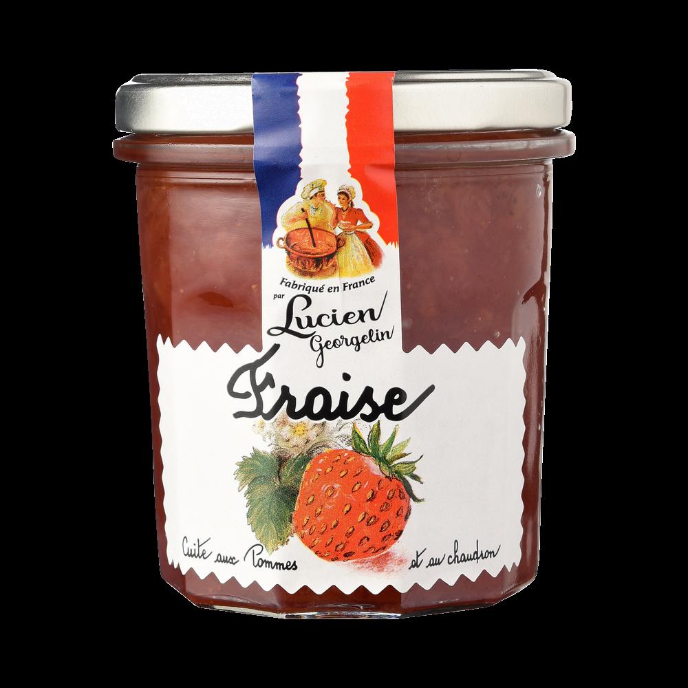 Confiture de fraises cuite au chaudron, Lucien Georgelin (320 g)