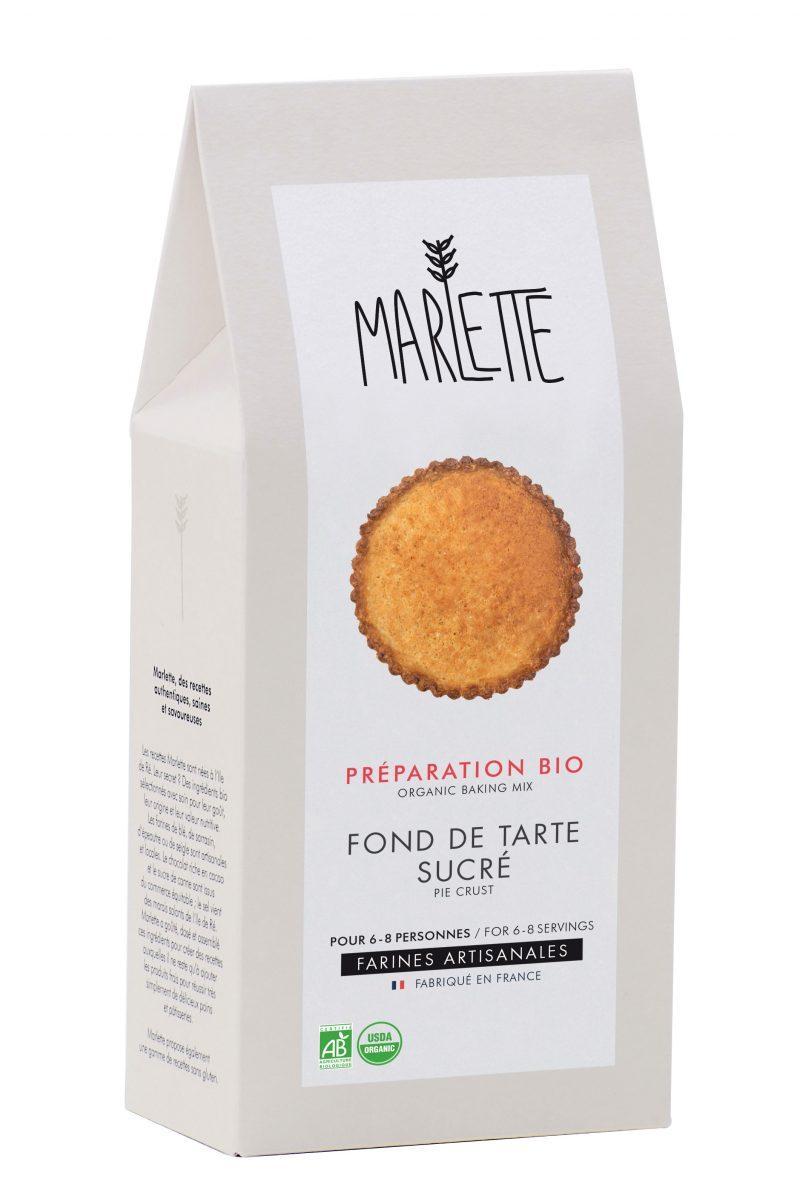 """Préparation """"Fond de tarte sucré"""" Bio, Marlette (300 g)"""