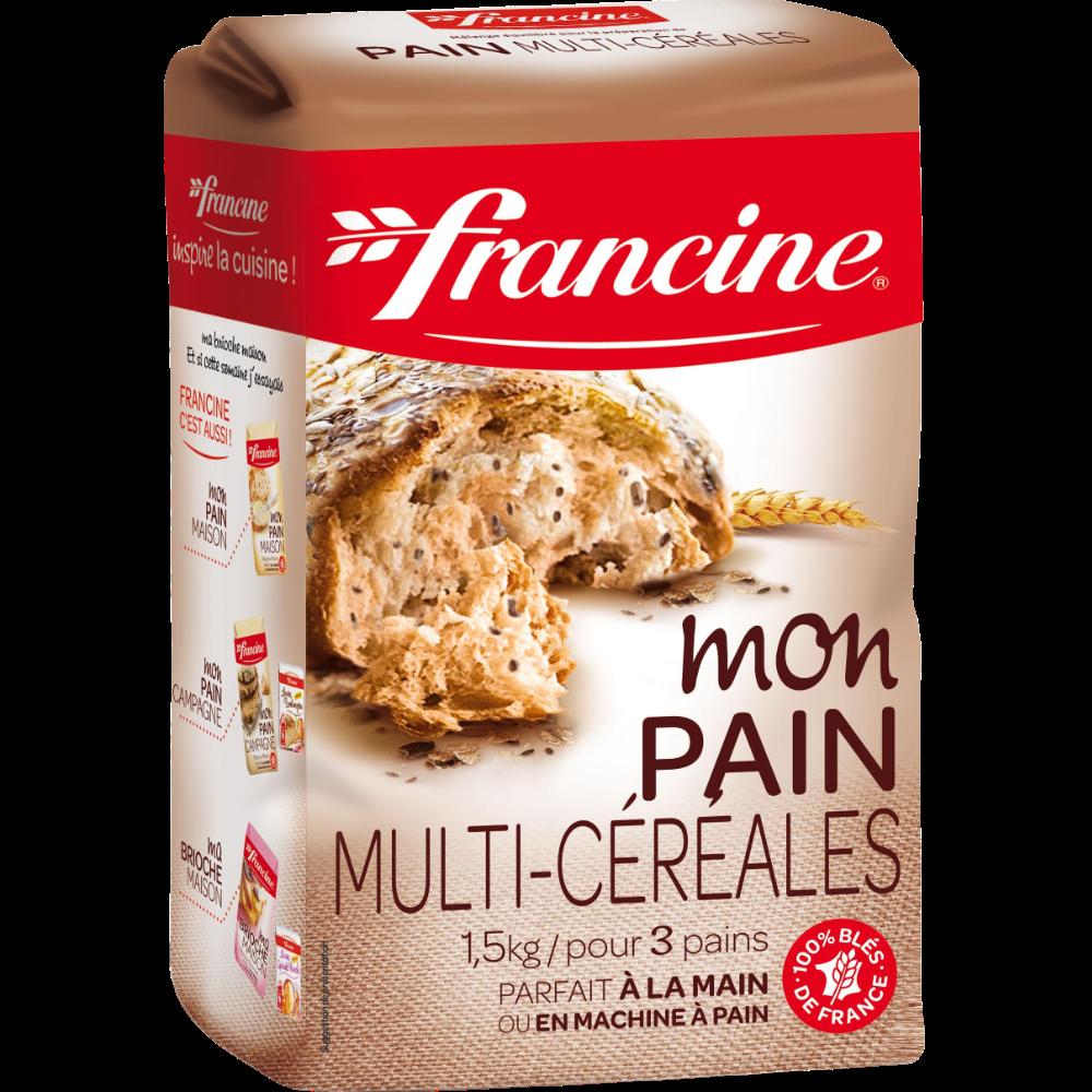 Préparation pour pain multi-céréales Francine (1,5 kg)